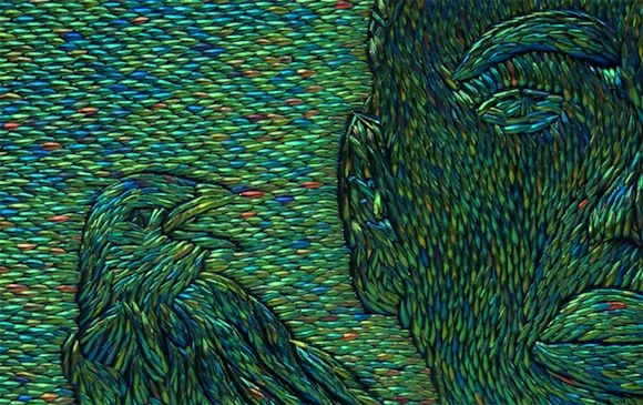 JF_2011_Negro-with-crows-dettaglio 2011 gusci di coleottero su legno cm 228 x174